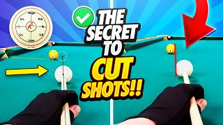 Pool Lessons - The Secret to Extreme Cut Shots!!
