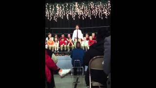 "Ayden C. Performing ""A Cradle in Bethlehem"" at BHCS 2013 Ch"