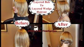 Miss Ruby Tuesday- Layered Bob To Layered Wedge Haircut