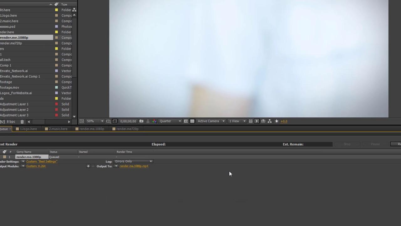 Hướng dẫn cách Render Video trong After Effect vừa nhẹ vừa nét