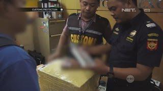 Petugas Bea dan Cukai Musnahkan Rokok yang Coba Diselundupkan Penumpang - Customs Protection