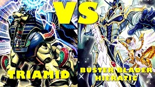 Real Life Yugioh - TRIAMID vs BUSTER BLADER | August 2016 Scrub League