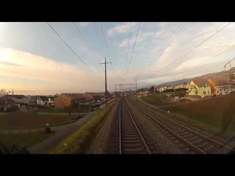 Cab View Train Lausanne Geneva (Switzerland)