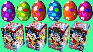 Mickey Mouse Clubhouse Surprise Boxes + Surprise Eggs Phineas and Ferb Huevos Sorpresa