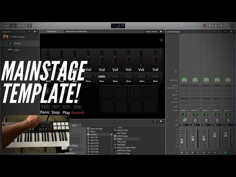 M-Audio Oxygen Mainstage Template!