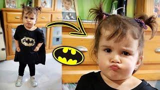 LAURINHA VIROU O BATMAN!! Fantasia para Crianças no Carnaval