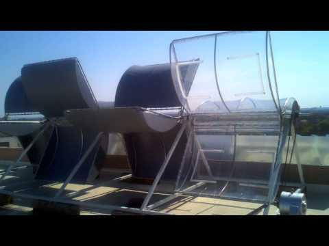 "Wind Turbine at Building Turbines Inc. Austin Texas unveils ""New Clear Blades"""