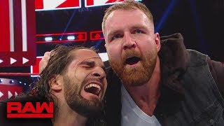 WWE Dean Ambrose attack Seth Rollins, Roman Reigns Watch in TV - WWE Raw Highlights 22 November 2018