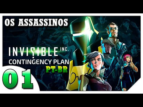 Invisible Inc Contingency Plan #01- Draco e Salem a dupla mortal! [Gameplay Português PT-BR]