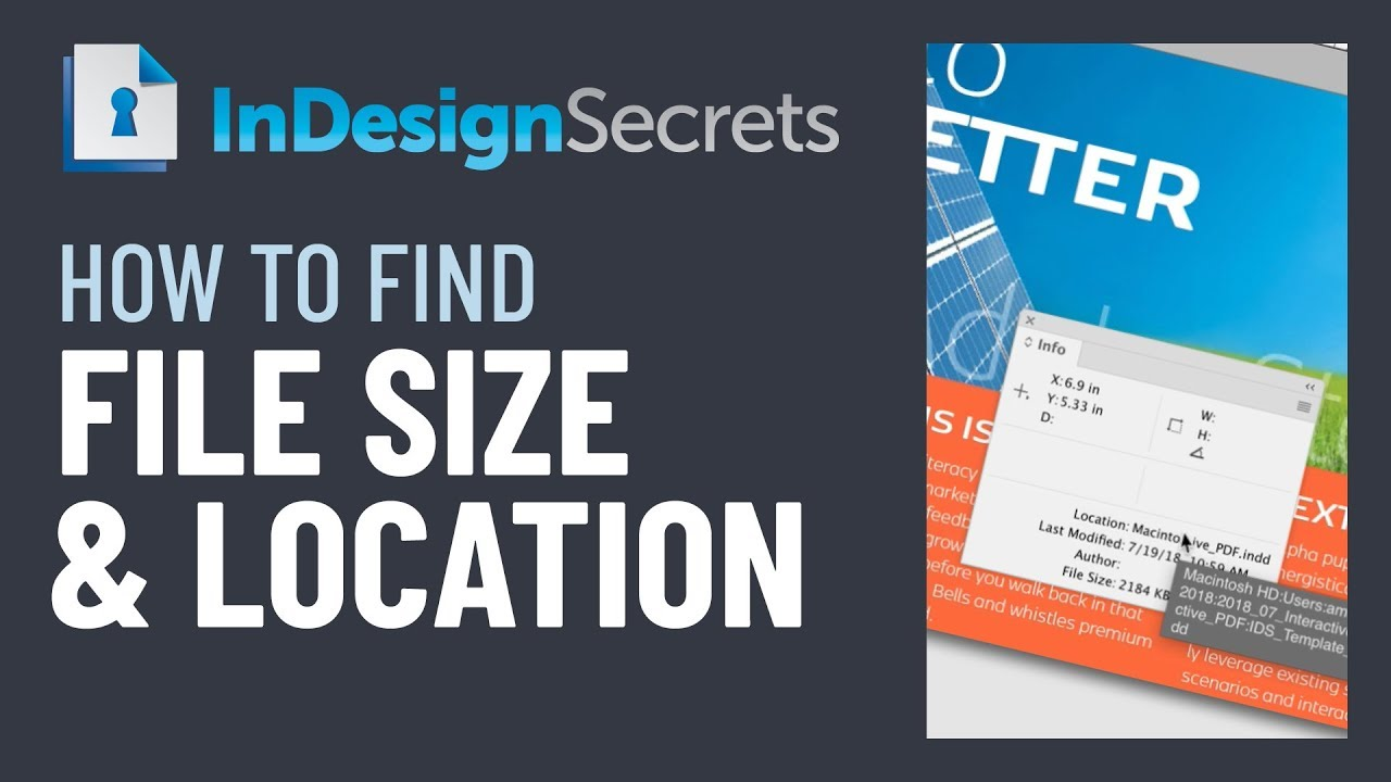 InDesign How-to Video: Find File Size and Location - InDesignSecrets