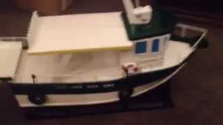Balsa Wood Rc Boat #3 Close Up