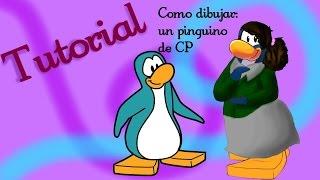 Como dibujar un pingüino de Club Penguin