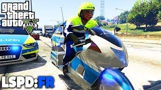 GTA 5 LSPD:FR - Motorradpolizei auf der Autobahn! - Deutsch - Polizei Mod #45 Grand Theft Auto V