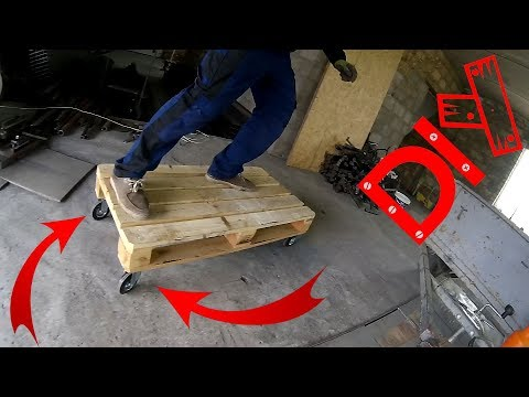 Cool Homemade Pallet Wheelbarrow