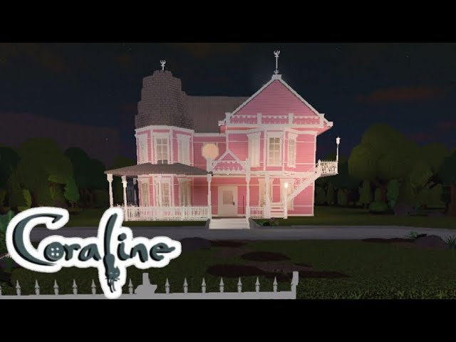 Bloxburg Recreating Coraline S House The Pink Palace 400k Youtube