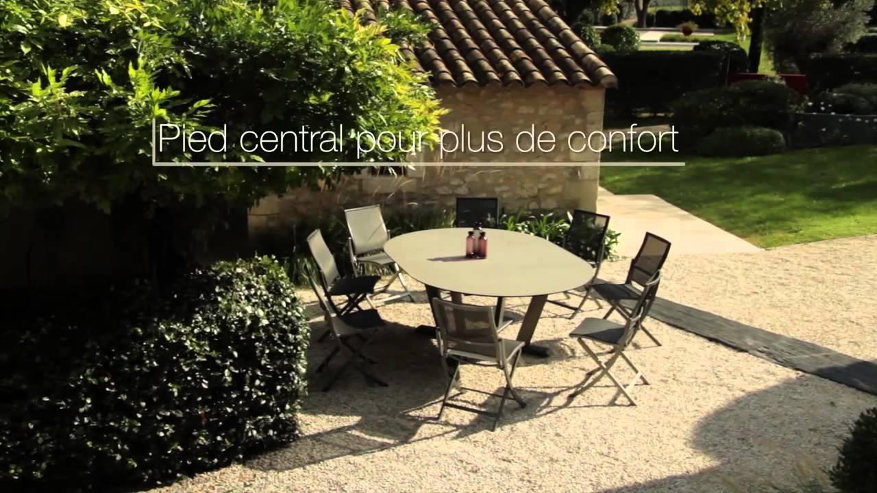 hegoa table ronde extensible les jardins mobilier de. Black Bedroom Furniture Sets. Home Design Ideas