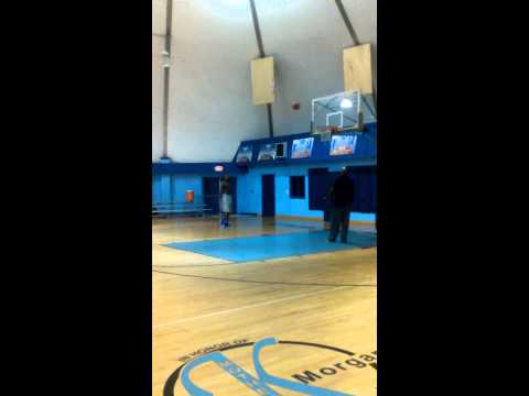 DJ Russell puts up shots after a grueling 2 hr w/o