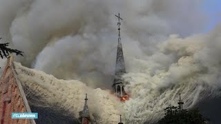 Heftige beelden: brand in kerk Amstelveen - RTL NIEUWS