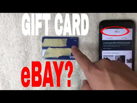 ✅  Can You Use A Visa Gift Debit Card On EBay 🔴