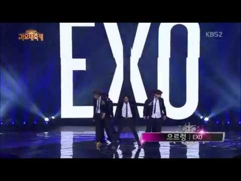 131227 EXO Growl Dubstep Intro CUT (at KBS Gayo Daejun)