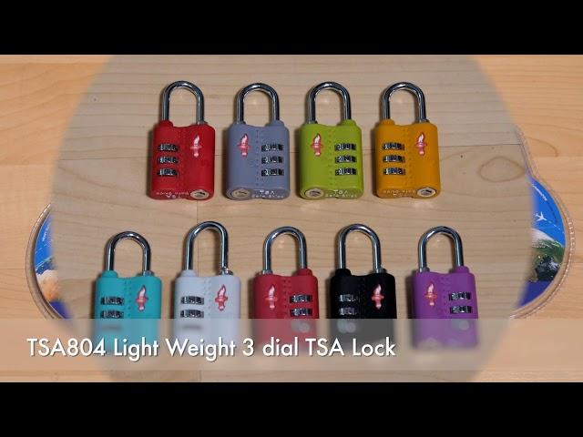 TSA804 Light Weight 3 dial TSA Lock
