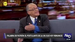 """Pedro Patrón sobre juramentación: """"Me sentí muy afectado""""."""