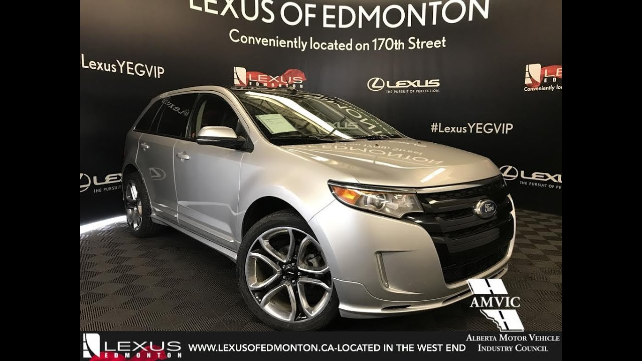 used silver 2013 ford edge sport walkaround review camrose alberta youtube. Black Bedroom Furniture Sets. Home Design Ideas