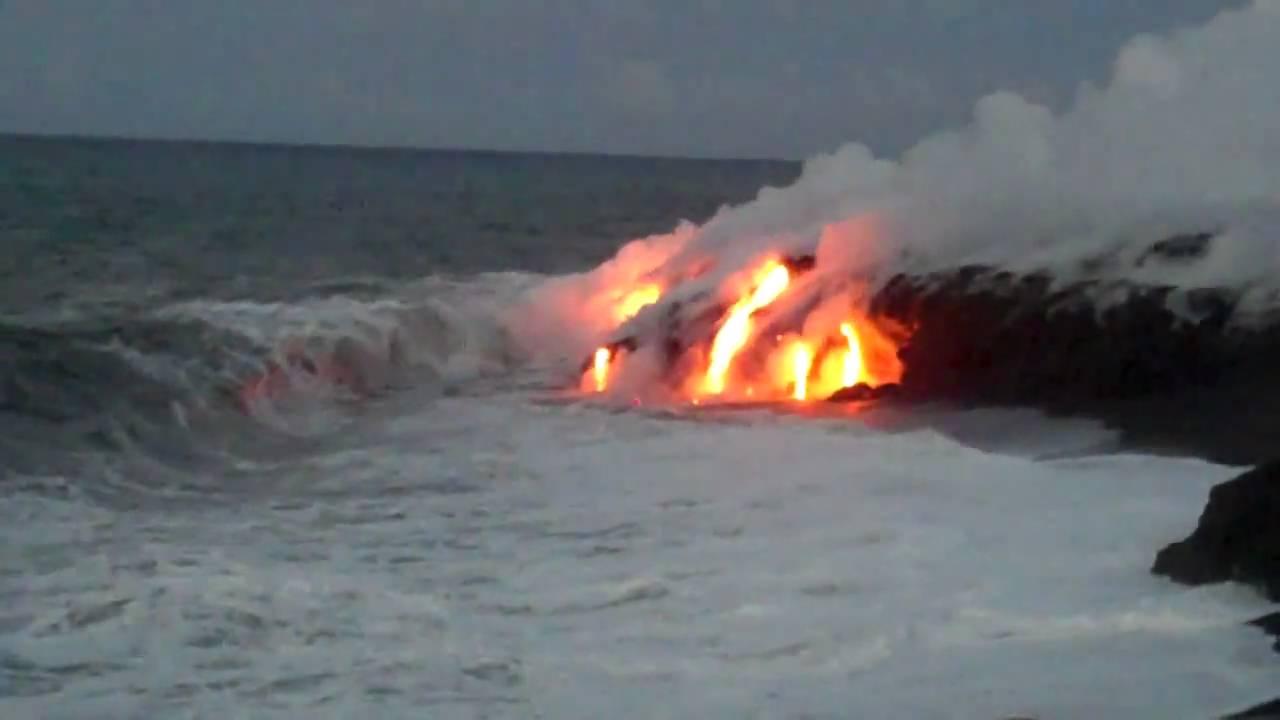 Watch Lava Flow Big Island Hawaii