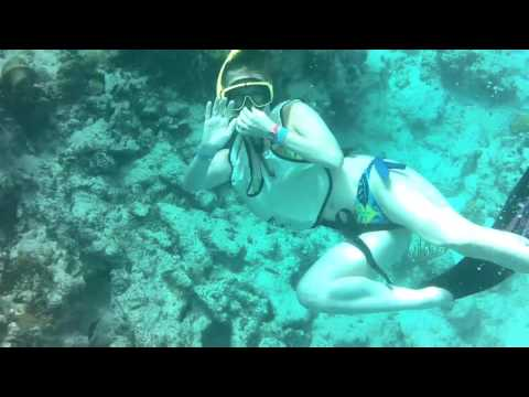 Snorkeling in Nassau, Bahamas 2015