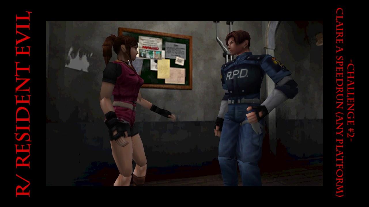 Resident Evil Reddit - Challenge #2 - Claire A Speedrun