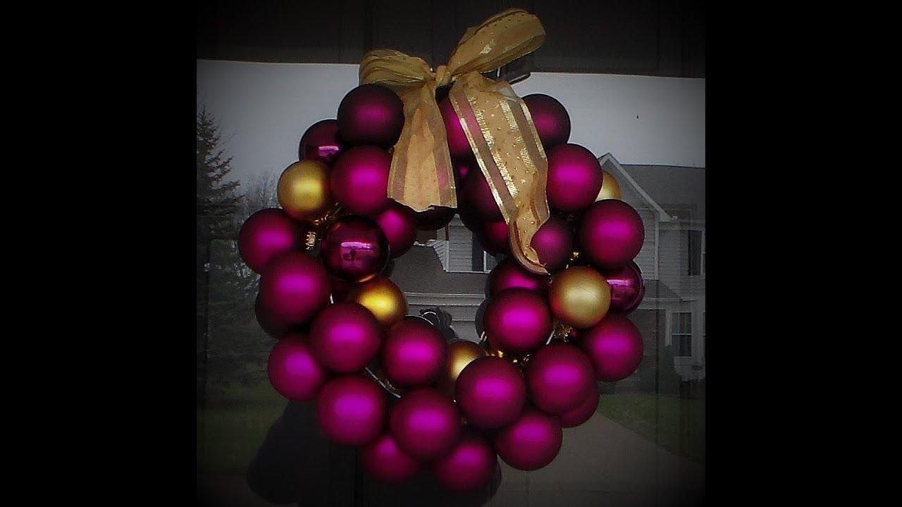 Diy christmas ornament wreath super easy tutorial youtube solutioingenieria Choice Image