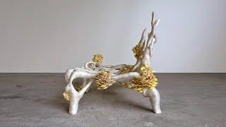 как это сделано Стулья из мицелия грибов соевый соус