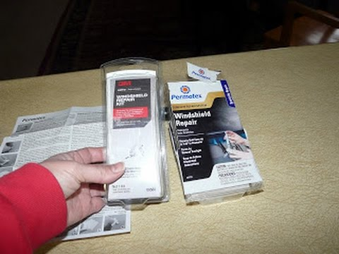 comparing 3m and permatex windshield repair kits for auto car glass chip or cracks