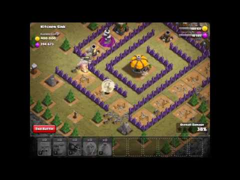 Clash of Clans Kitchen Sink TH6 (Townhall Six) Walk-through **Hidden ...