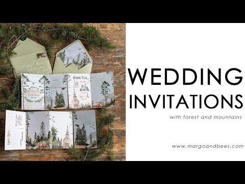 Forest wedding invitations idea