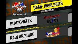 PBA Philippine Cup 2018 Highlights: Blackwater vs. ROS Dec. 29, 2017