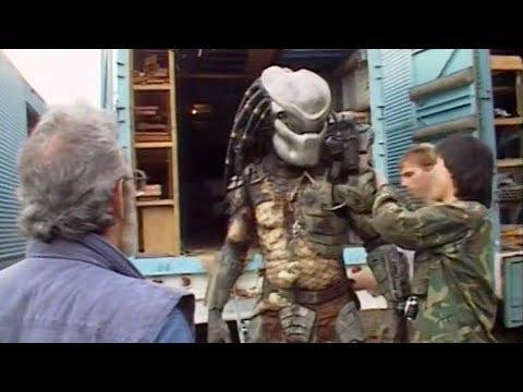 На съемках фильма 'Хищник' 1987 года. Создание Хищника
