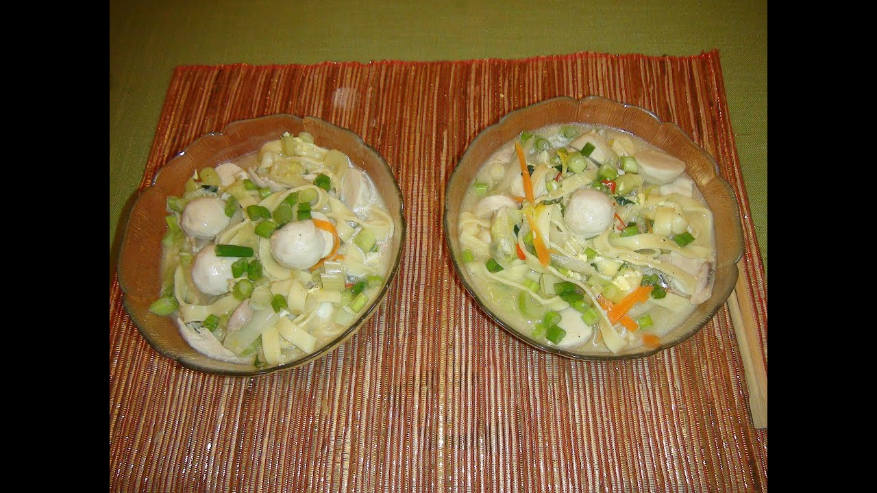 How To Make Pancit Lomi Chicken Noodle Soup Filipino Style Youtube