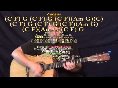 What Makes You Beautiful (One Direction) Guitar Lesson Chord Chart - Capo 4th