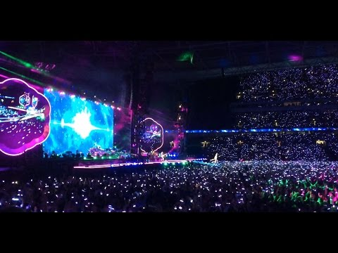 Coldplay live at Wembley, London! Jumped so much I nearly dislocated my knee!