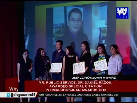 Mr. Public Service, Dr. Daniel Razon, awarded special citation in UmalohokJuan Awards 2016