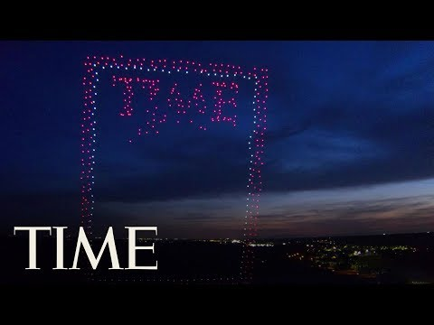 Fly Through A 100 Meter Tall TIME Magazine Cover Made With 958 Drones | TIME
