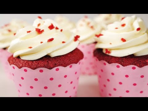 Red Velvet Cupcakes Recipe Demonstration - Joyofbaking.com