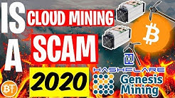 Is Cloud Mining A SCAM In 2020? -Genesis Mining, Hashflare.