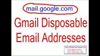 Gmail Disposable Email - Create UNLIMITED GMAIL DISPOSABLE  EMAIL Addressers