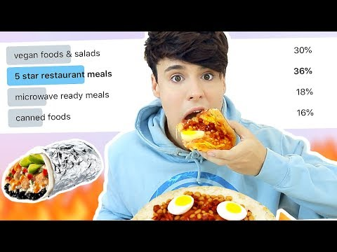 i let my SUBSCRIBERS pick my FOOD for a day