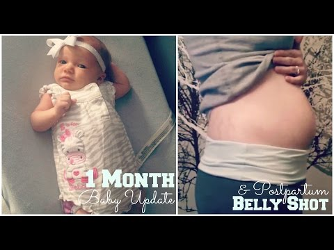 1 Month Old Baby Update & Postpartum Belly Shot {The Pregnant Doula}
