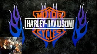 Spray Paint Painting Video of a Harley Davidson logo....AMAZING!!!!