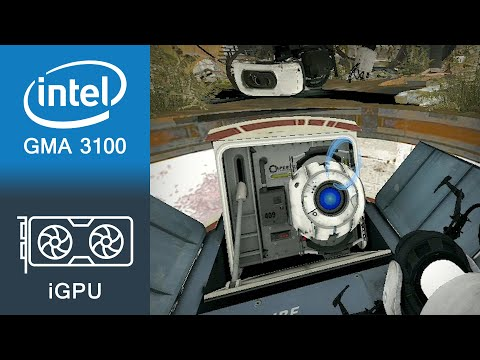 Portal 2 Gameplay Intel GMA 3100