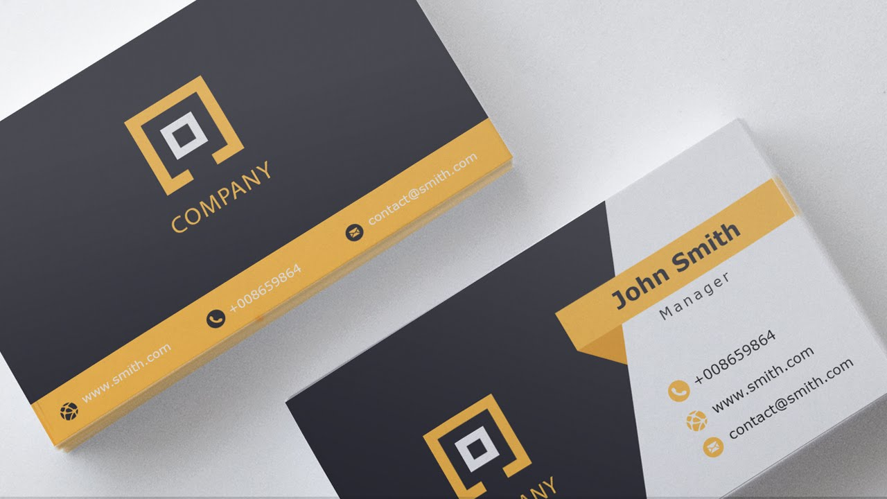 Business card template free download 1 youtube wajeb Image collections